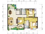 1号楼104㎡三房两厅两卫