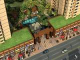 中心庭院景观鸟瞰图