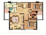 12#36#96#楼约83㎡3房2厅1卫1厨1阳台