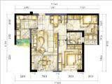 1#楼91㎡二房二厅