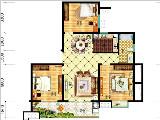 9#楼110㎡三房两厅