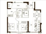 6#9#楼98㎡户型2房2厅2卫