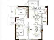 8#楼85㎡户型2房2厅2卫