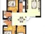 B户型115㎡三房二厅二卫