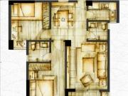 1#楼0506单元82㎡两房两厅两卫一阳台