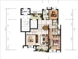 B-1上层146.94㎡三房三厅两卫一阳台
