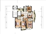 C142.84㎡四房两厅两卫两阳台