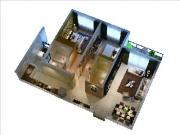 3#2房2厅2卫2阳台117.54㎡