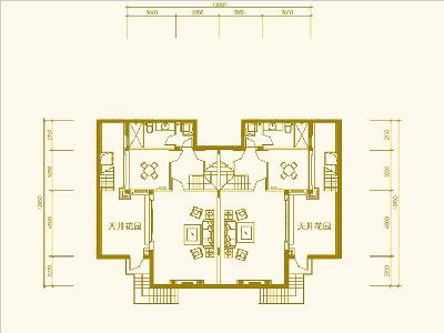 别墅203㎡四房三房三卫 地下一层