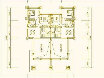 别墅203㎡四房三房三卫 第二层