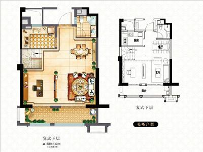 1#9#楼117㎡三房两厅三卫
