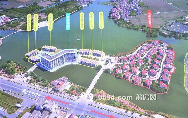 大地湖心岛位于莆田二十四景之一白塘湖公园岛上,白塘湖片区改造中