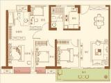 10#楼C户型128㎡四房两厅两卫一阳台