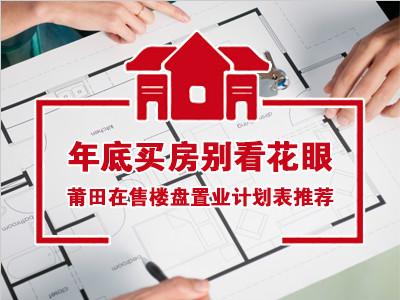 年底买房别看花眼 莆田在售楼盘置业计划表推荐