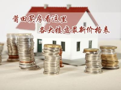 莆田超40个楼盘最新价格表 买房看这里就够了