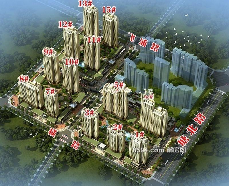 涵江塘北路品质小区塘北一号高层毛坯楼中楼送露台-