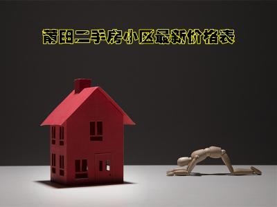 莆田二手房小区最新价格表!月薪3000该怎么买房?