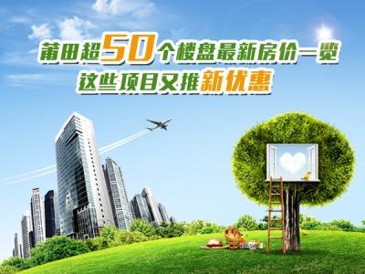 莆田超50个楼盘最新房价一览 这些项目又推新优惠