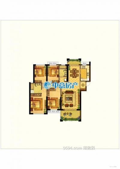 荔城区 立丰左岸蓝湾四室两厅高层南北东三面光优质房-莆田二手房