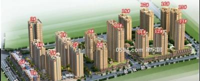 华侨新城 超高层大三房121.67平三面采光无遮挡视野单价9800-莆田二手房