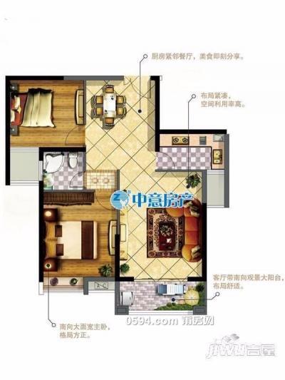 涵江沃尔玛附近华永天澜城 两室两厅一卫 高层房87.56平-莆田二手房