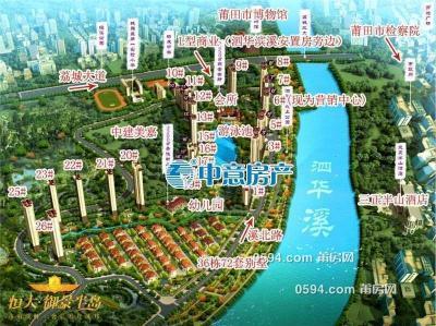 恒大御景半岛 龙桥街道泗华村 3房2厅2卫 126平米 总价227万-莆田二手房