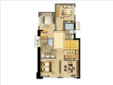 133㎡复式四房,赠送面积约34平,使用面积116平