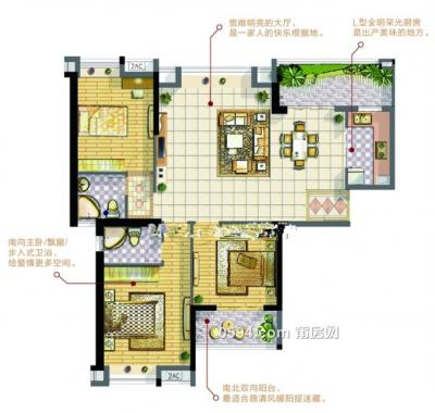 天籁城南北西低总价低首付116平米大三房9500元一平米-莆田二手房