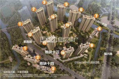 保利城楼中楼高层,赠送面积40平米,4房2厅3卫2阳台,低总-莆田二手房