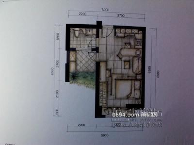 联创国际广场 双证满2 朝南户型 买1层用两层再加赠送十几平-莆田二手房