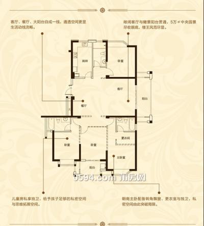 正荣润璟 金典户型177平 超高层 南北东 单价16800-莆田二手房