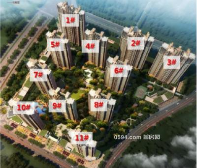 售价6999元/每平  高铁片区凯天青山城108平3房 首付仅需35万-莆田二手房