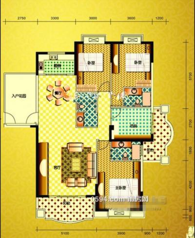 融信府对面环球花园 177平、南北东5房 单价仅11800元 证件齐-莆田二手房