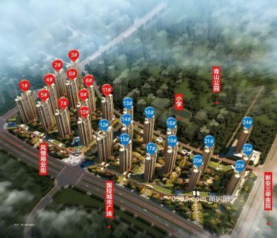 凯天青山城 超高层仅售7288/㎡可分期首付约30万 三面光-莆田二手房