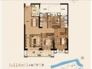 8#11#13#楼B户型114㎡三房