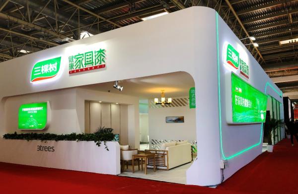 三棵树:发现木门之美 家具漆惊艳第18届中国国际门业门展