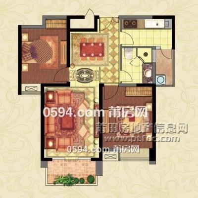 启迪宏基附近 万达华城 两房两厅两阳台电梯高层两证满二-莆田二手房