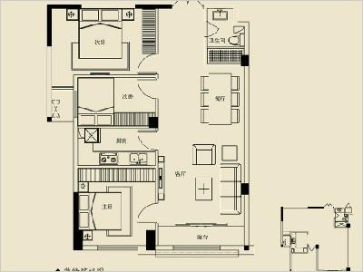 2号楼C 111㎡三房