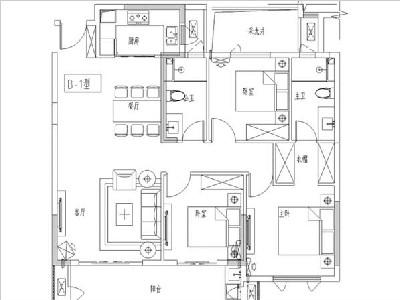 1#2#3#6#7#10#11#楼115㎡三房两厅两卫