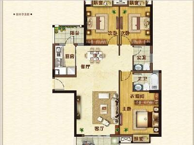 16#楼133㎡三房两厅两卫