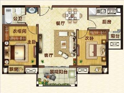 16#楼86㎡两房两厅1卫