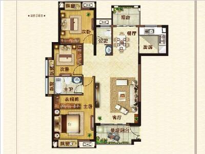 16#楼127㎡三房两厅一卫