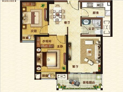 15#樓81㎡兩房兩廳一衛