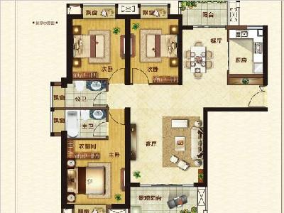 15#楼125㎡三房两厅两卫