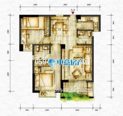 巨岸幸福城 2房2厅1卫 81平 中层 南北 13102元/平 正在装修-莆田二手房