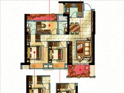 3#樓97㎡三房兩廳