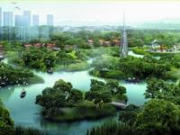 绶溪公园规划延寿湖效果图