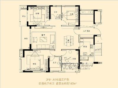 3、5#楼A1标准层户型