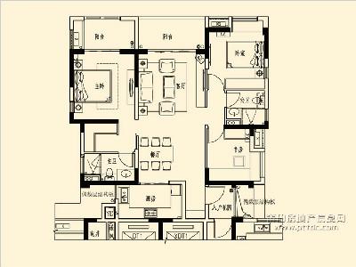 15-17#楼A2标准层户型