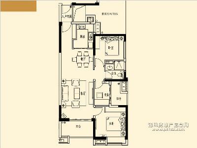 13、15-17#楼A4标准层户型